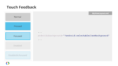 Photo: You can utilize the default selectable item background from within the framework resources.