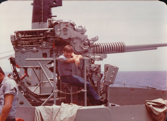 Me On The USS Plymouth Rock (LSD-29) late 70's