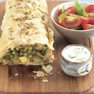 Curried Vegetable Strudel.