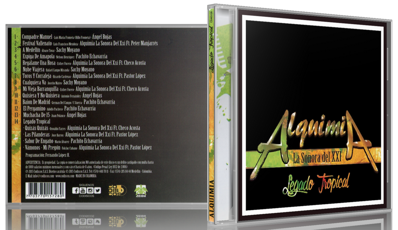 Alquimia La Sonora Del XXI - Legado Tropical (2015) [MP3 @320 Kbps]