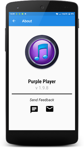 Purple Player Pro app for Android screenshot