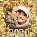 New year photo frame 2020 icon