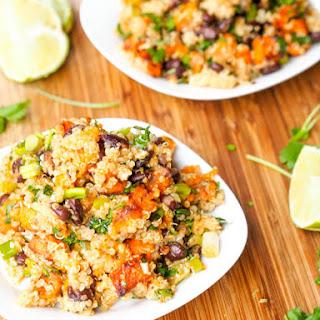 Vegan Sweet Potato Black Bean Quinoa Salad {Gluten-Free}