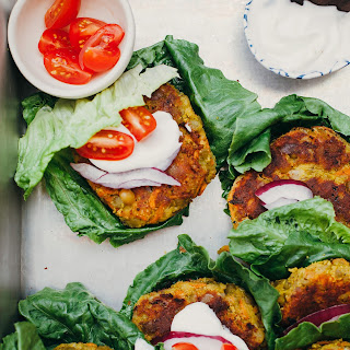 Golden Vegan Split Pea Patties