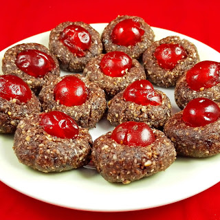 Raw Christmas Cherry Cookies.