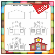 How To Draw House Step By Step by tasukiapps icon