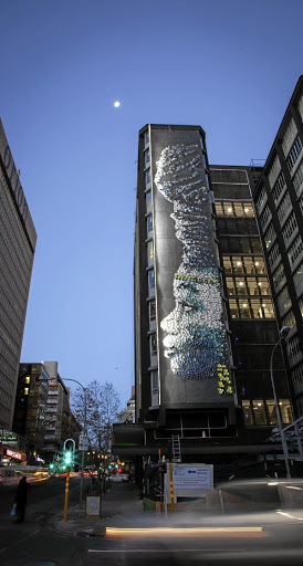 Creating this 168m-tall mural in Braamfontein was a hair-raising feat