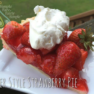 Diner Style Strawberry Pie.