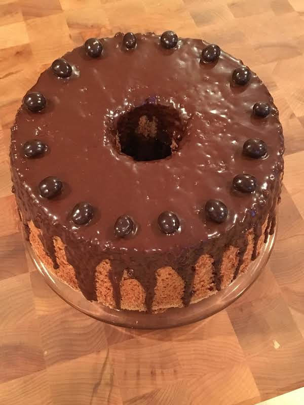 Chocolate Angel Food Cake With Espresso Glaze