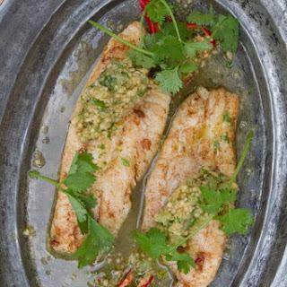 Sauteed Catfish With Cantaloupe, Lime, And Cilantro Salsa