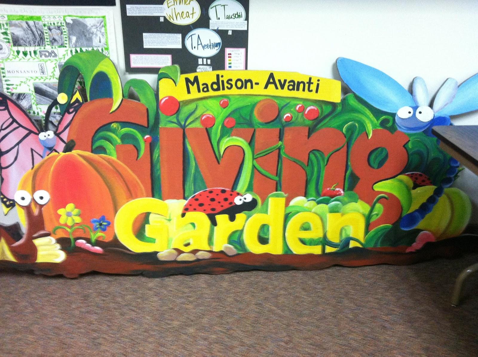 Madison-Avanti Giving Garden Sign