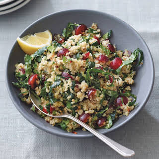 Kale Quinoa Salad with Red Grapes.