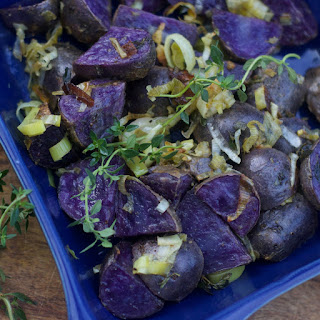 Dijon Roasted Purple Potatoes.