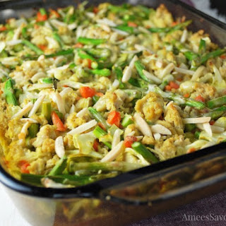 Healthier Chicken Vegetable Casserole.