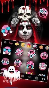 Bloody Creepy Lady Keyboard Theme 1.0 Mod APK Updated Android 3