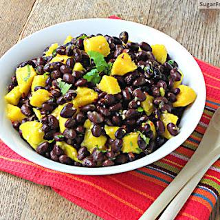 Caribbean Black Bean Mango Salad with Orange Ginger Dressing