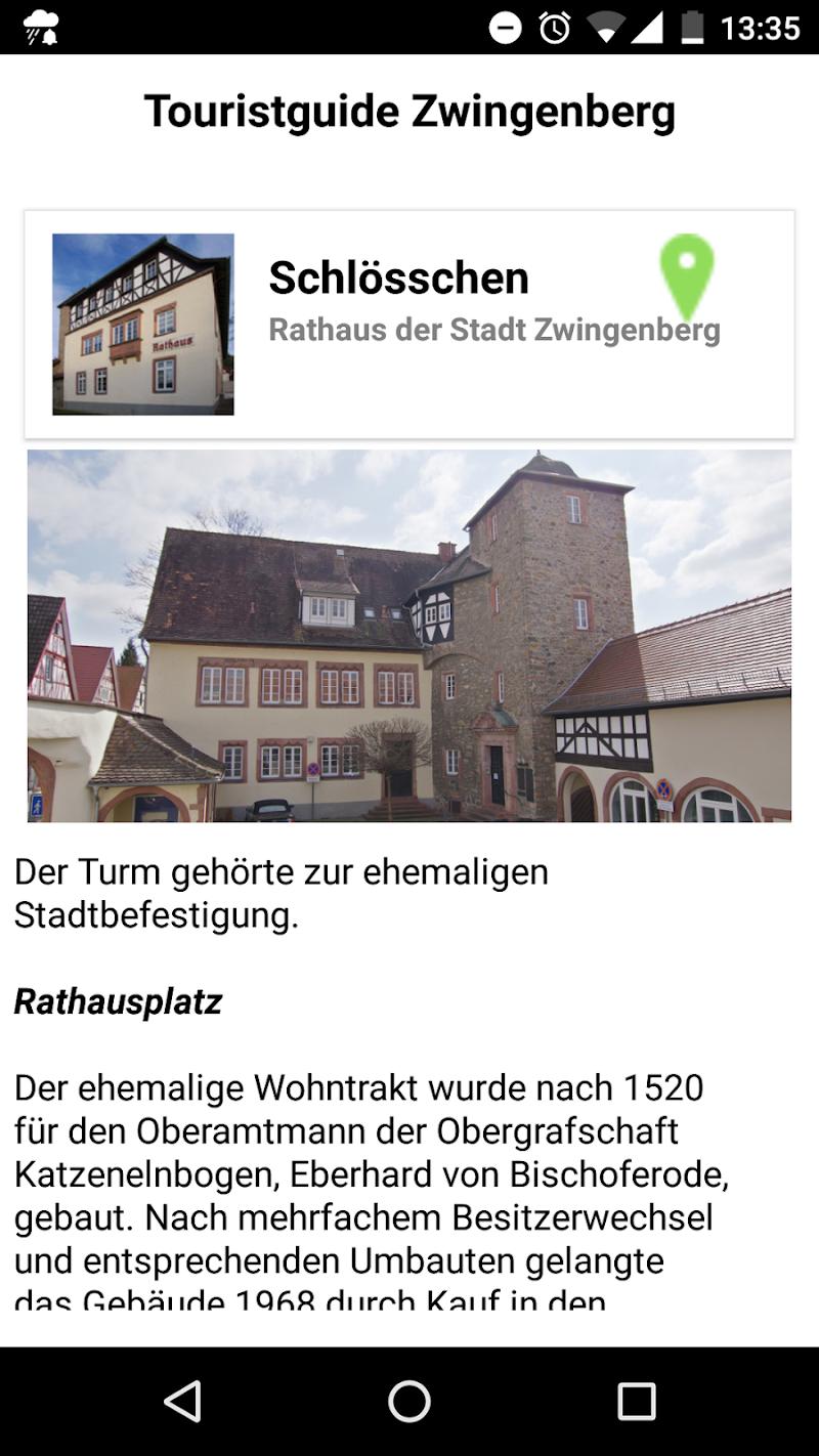 Скриншот Touristguide Zwingenberg