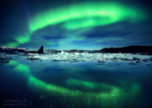 Photo: The Spirits Return  When synchronicity starts turning the wheels of time and gathering the elements, magical things can happen in front of our eyes.  Location: Jokulsarlon Glacier Lagoon, Iceland | September 2015  Story:  Three weeks after returning from my second Iceland trip, here is the first selected photo. I thought about starting posting images in chronological order, but couldn't avoid going straight to an image made on the third night, showing an epic display of Northern Lights in Jokulsarlon.  This trip began in a similar fashion as last year's. Arriving to the Keflavik airport at 1h15m and sleep in the car is always quite a harsh start for such an intense trip. Doing 140 km to Seljalandfoss on the next day and then having to return to Reykjavik due to a broken tripod adds to the exhaustion. Fortunately the third day made it all worth, as we had incredible sunset light in the Glacier Lagoon and then three hours of fantastic Aurora activity in the skies. Quite curiously, me and my companion were the only ones shooting there, making it all even more special. It's not every day that you have the honor of witnessing both the Northern Lights and the Jokulsarlon glaciers lit by the moonlight coming from behind!  Technical details:  Finally had the chance to shoot the Northern Lights with a full frame camera. I've always defended (and continue doing so), that an APS-C with a good lens can create stunning landscapes at base ISO that can rival with full frames, but when you venture into ISO1600 long exposure terrain, full frames are light years ahead of APS-Cs. I was stunned to see how much less noise the full frame sensor generates.  Sony a7R + Zeiss 16-35mm f4 ISO: 1600 Exposure: 30 seconds Focus: Manual Wireless Shutter Release Manfrotto 055XPRO3 tripod  #aurora  #auroraborealis  #northernlights  #iceland  #icelandphotography  #jokulsarlon  #glacier  #lagoon  #stunningmoment  #landscapephotography  #landscapephoto  #landscapepicture  #photomaniaportugal  #