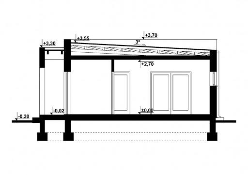 G311 - Budynek letniskowy - Przekrój