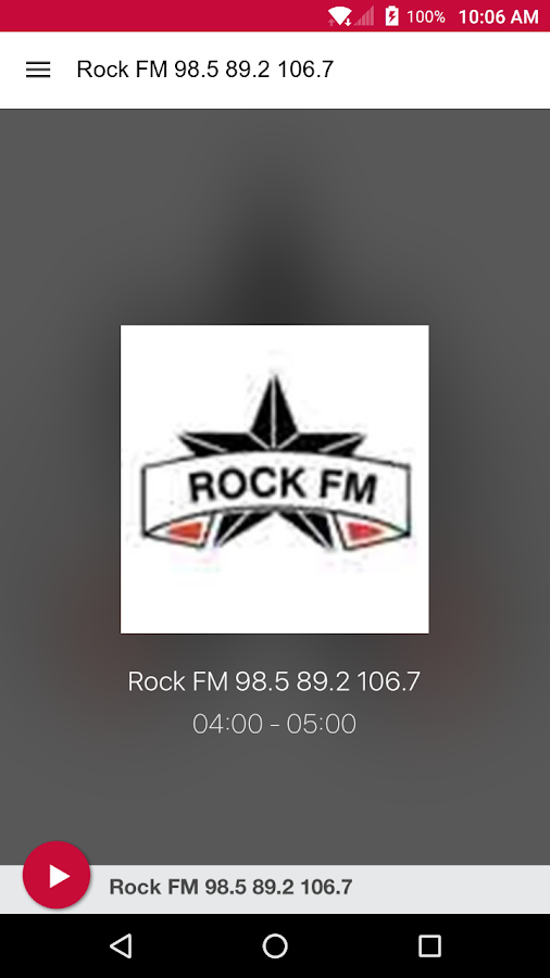 Rock FM 98.5 89.2 106.7- screenshot