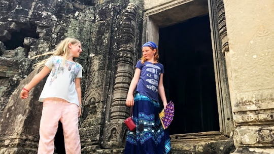 Explore Angkor Wat with the family on a river cruise.