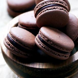 Chocolate Macarons With Chocolate Peppermint Ganache