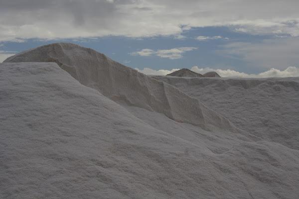 celeste e bianco, nelle Saline di ariosa
