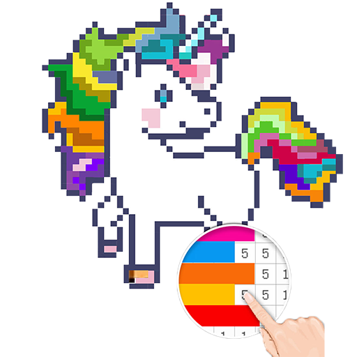 Unicorn: Color By Number Pixel Art