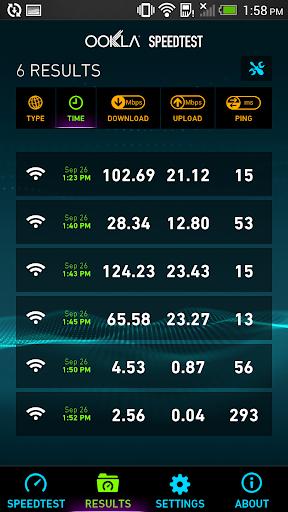 Speedtest.net screenshot 2