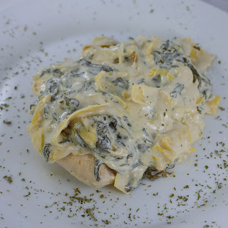 Creamy Chicken with Artichokes and Spinach.
