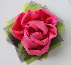 """Photo: Брошь -цветок """"Сны весны""""...может понравится выпускницам? - Цветы из ткани своими руками, Татьяна, Самара -"""