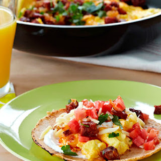 Chorizo Scrambled Egg Breakfast Taco