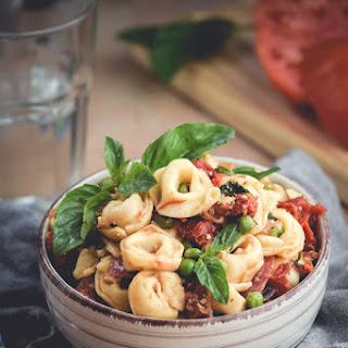 Oven Dried Tomato & Cheese Tortellini Pasta Salad