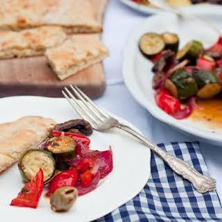 antipasti – marinated vegetables Italian style.