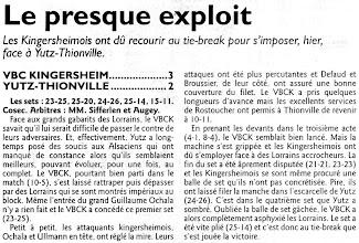 Photo: 09-10-2011 2è tie-break perdu par l'ASVB à Kingersheim