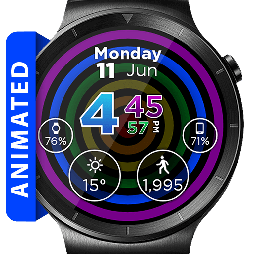 Hypnotic Rainbow Watch Face Widget Live Wallpaper Android APK Download Free By ARTware+Software