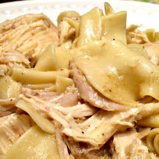 Crock Pot Chicken and Noodles.
