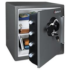 Sentry Safe SFW123DEB: Fire-Safe Mechanical Lock Business Safe 1.23 ft3 Combination Lock Fire Resistant, Water Resistant, Pry Resistant Internal Size 13.80 x 12.60 x 11.90 Overall Size 17.8 x 16.3 x 19.3..