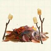 森 焚き火 あつ