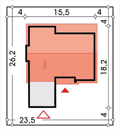 Tytus wersja B parterowa, podwójny garaż - Sytuacja