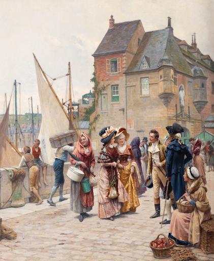 Segoura Fine Art - Adrien Moreau - La Rencontre Galante au Port