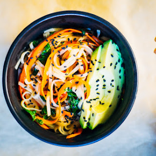 Brown Rice + Carrot Noodles w/ Miso Ginger Glaze | From This Rawsome Vegan Cookbook