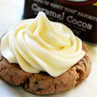 Hot Cocoa Cookies with Marshmallow Fluff Frosting