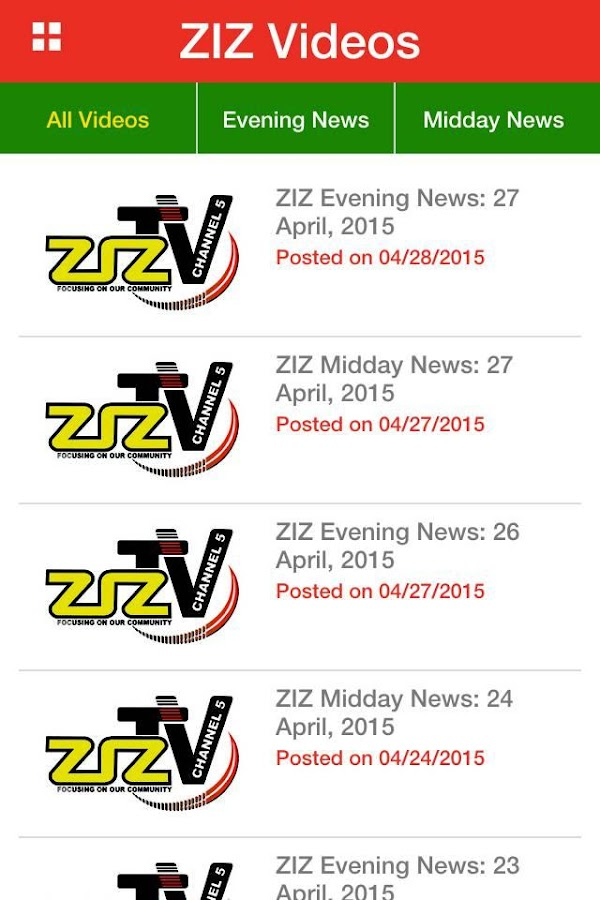 ZIZ News- screenshot