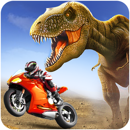 Dino Bike Attack Race: Offroad Bike Adventure 2018