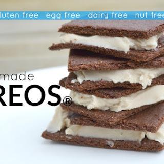 "Gluten Free Homemade ""Oreos"" (egg free, dairy free, nut free, corn free)."