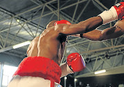 Two boxers in the ring