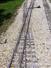 Photo: The only diamond at HALS takes the 4.75 inch gauge track over the 7.5 inch gauge track.     HALS Public Run Day 2015-0516 RPW