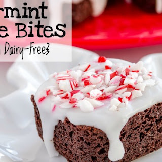 Peppermint Brownie Bites {Egg-free and Dairy-Free}