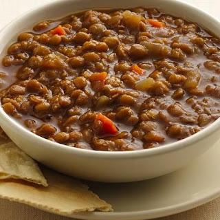 Slow-Cooker Brown Lentil Soup